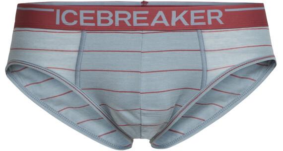 Icebreaker Anatomica Briefs Men vapour/vintage red/stripe